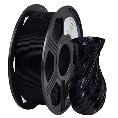 YOYI 3D Printer Filament, PLA PFilament 1.75mm 1KG (2.2 lbs) Spool, Dimensional Accuracy +/- 0.03 mm (Black)