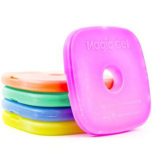 5x caja de almuerzo refrigeradores por MagicGel. Slim Fit Para Mantener Su Almuerzo fresco, fresco y Crisp.