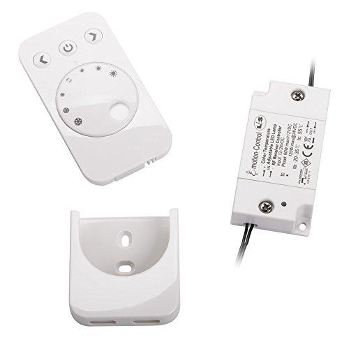 LED Emotion Steuerung 1-Kanal Starterset für Groove Aufhängeschiene stufenlose Verstellung inkl. Fernbedienung für 15 und 30 W LED Konverter von SO-TECH®