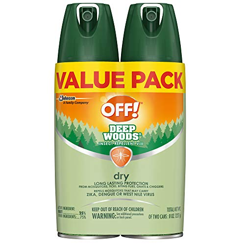 OFF! Deep Woods Insect Repellent VIII Dry, 4 oz, 2 ct