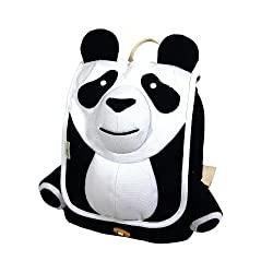 Ecogear Ecozoo Kids Panda Backpack, Black/White, One Size