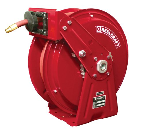Reelcraft DP7650 OLP 3/8-Inch by 50-Feet Spring Driven Hose Reel for Air/Water