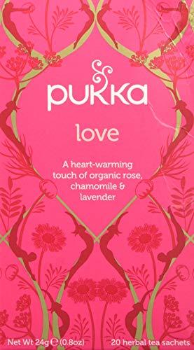 Pukka Love Infuso alla Rosa Bio Camomilla e Lavanda, 20 Filtri