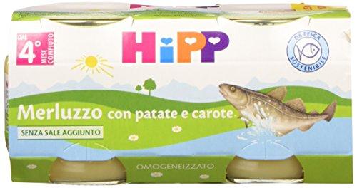 Hipp Omo Merluzzo con Patate e Carote - 24 vasetti da 80 g