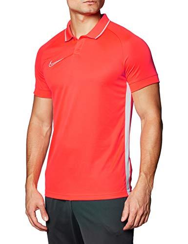 Nike Herren Poloshirt Academy19 Polo SS, Bright Crimson/Bright Crimson/White, L, BQ1496-671