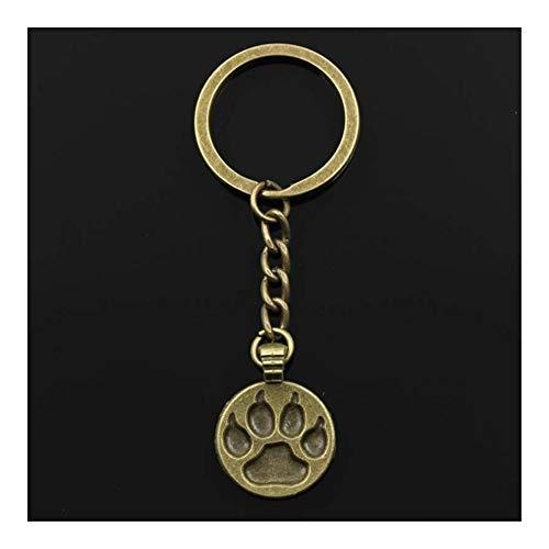 Llaveros Moda llavero 28x21mm la pata del gato del perro del oso de plata del color DIY de los colgantes de los hombres de joyería anillo de la cadena dominante del coche de recuerdo Soporte for regal