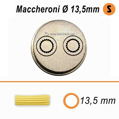 Trafila in bronzo per Pasta Maccheroni Rigatoni da 13,5mm per macchina pasta fresca professionale La Fattorina 1,5kg compatibile con FIMAR MPF 1,5