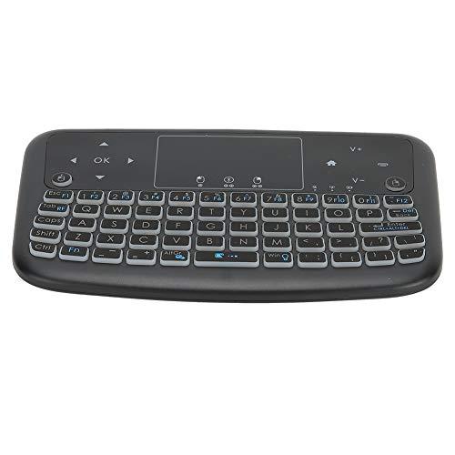 Shipenophy Air Mouse Touchpad Keyboard, Smart Mini Keyboard Teclado inalámbrico Multifunción Control Remoto Teclado retroiluminado para computadora portátil para Smart TV