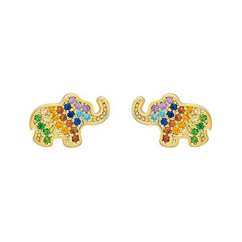 Lege schattige olifant oorbellen lente en zomer metalen oorbellen kleine oorbellen Stud oorbellen cadeau