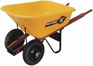 Ames True Temper 8 Cubic Foot Poly Tray Dual Wheel Contractor Wheelbarrow BP8