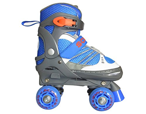 Schwinn Unisex Youth Adjustable Roller Skates with Sport Wheels - Blue/Gray 1-4