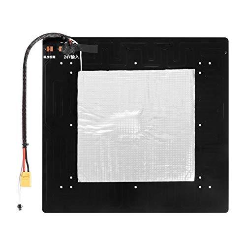 Apricot blossom 24V 350 * 350 * 3MM Bed Focolaio in Alluminio riscaldata con Integrated Circuit Cavo Kit Forma for Ender-5 Plus 3D Stampante Heatbed MK3 Fai da Te Parts