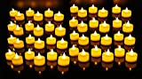 Urvi Creations Set of 12 Smokeless, Flameless, Battery Operated Led Tea Light Candles