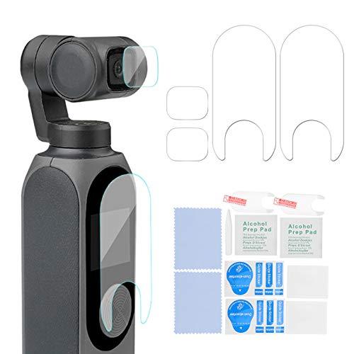 Bindpo Pellicola in Vetro temperato per Fotocamera, Alta durezza Pellicola Protettiva per Obiettivo per Fotocamera palmare AntiGraffio Pellicola Protettiva per Schermo ad Alta,per FIMI Palm 2