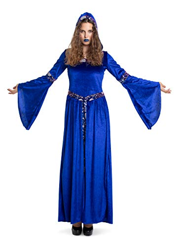 Folat 63413 Dark Moon - Vestito da strega, da donna, taglia XXL, colore: Blu