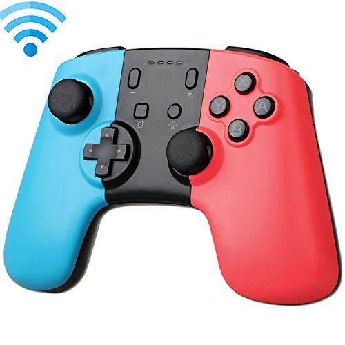 QKa Contrôleur Pro sans Fil à Distance, Console de Jeu pour Console de commutateur Nintendo (Rouge + Bleu), Prend en Charge la Version de Mise à Jour