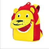防水リュックサックバックパック| 子供の漫画のインタラクティブスクールバッグ幼稚園かわいいダイビング素材リュック動物通気負担バックパック、ライオン