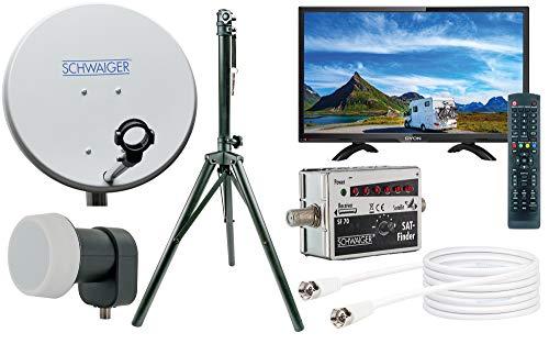 SCHWAIGER -TVSET- Camping-Sat-Anlage digital komplett | Camping Satelitenschüssel | TV 20