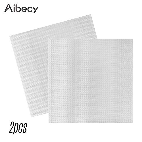 Leslaur Aibecy 2pcs 310310mm Heated Bed Foam Foil Insulation Cotton Self-Adhesive Hot Bed Heat Insulation Mat Sticker for Creality CR-10 CR-10S Anet A8 Plus Artillery SW-X1 3D Printer