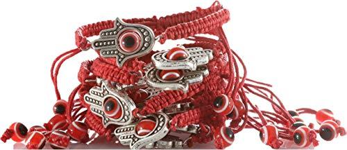 Body-Soul-n-spirit - Pulsera de cuerda roja grande Khamsa contra el malocho