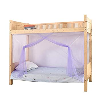EKDJKK Summer Mosquito Net Students Dorm Bunk Bed Curtains Dustproof Blackout Panel Bed Canopy Portable Bedding Accessories for Student Dormitory School College