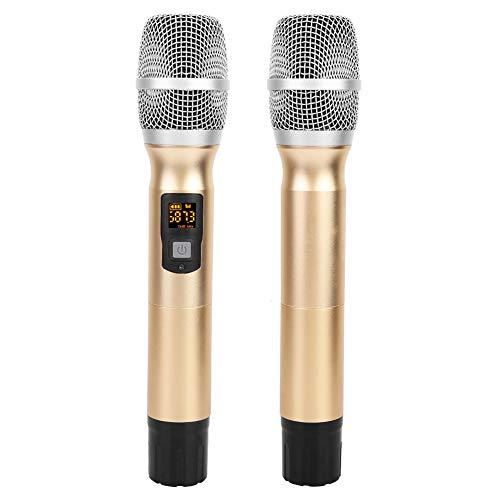 Germerse Micrófono inalámbrico, patrón Polar cardioide Plug and Play Micrófono inalámbrico Bluetooth para Karaoke, Canto, Escenario, Boda, discurso
