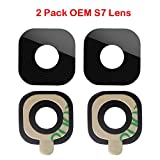 2 Pack Samsung Original S7/S7 Edge Back Camera Back Rear Camera Glass Lens Replacement for for Samsung Galaxy S7 G930 / S7 Edge G935