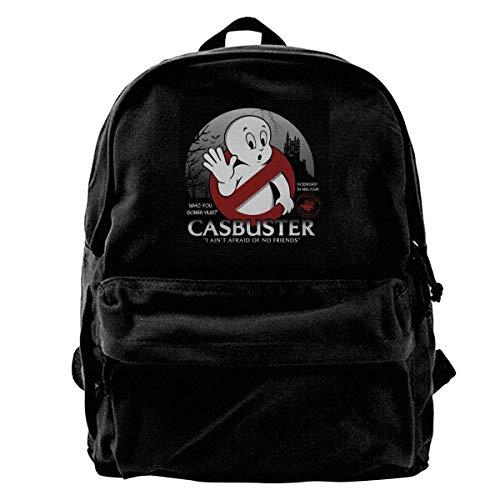 Canvas Rucksack Casbuster Casper Der freundliche Geist Ghostbusters Rucksack Gym Wandern Laptop Umhängetasche Daypack für Männer Frauen