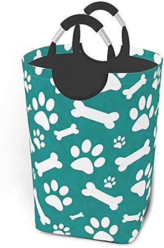 tvätt hindrar smutsiga klädpaket Kricka och vit hundpote vikbar tygklädväska tvättkorg