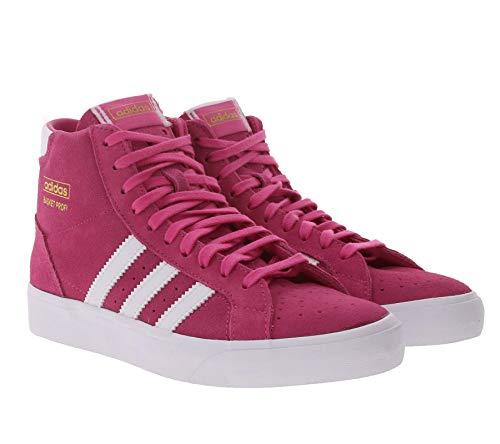 adidas Originals Basket Profi Sneaker Hochgeschnittene Basketball-Schuhe für Damen Sport-Sneaker Skater-Schuhe Pink, Größe:36 2/3