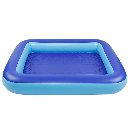 LYYAN Piscina Infantil Hinchable Cuadrada, Piscina Hinchable Rectangular Transparente Pool Cámara De Aire Individuales Piscina Duradera para Patio Jardín