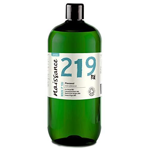 Naissance Huile Végétale de Lin Vierge Certifiée BIO 100% naturelle - 1 litre