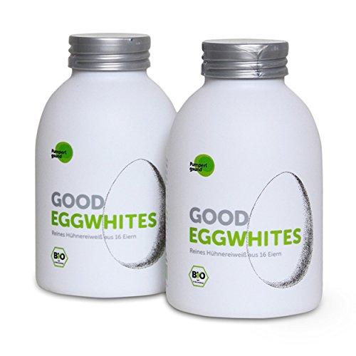 Good Eggwhites 2 x 483 ml (Bio Eiklar) • Flüssiges Eiweiß • Gesund Abnehmen & Muskelaufbau • Protein Shakes • Low Carb • PUMPERLGSUND