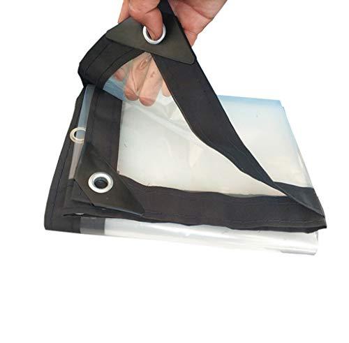 YFF-Plane Transparent Persenning Blatt Kunststoff klar Staubdicht Waterproof Tarp Boden Sheeting Abdeckung für Outdoor-Garten Camping-Zelt, 100g / m², Multigröße Optionen
