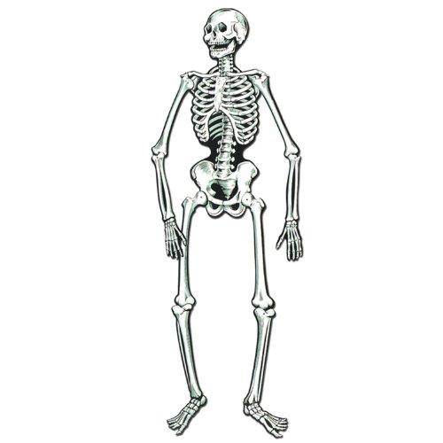"Beistle Jointed Skeletons, 22"", White/Black"