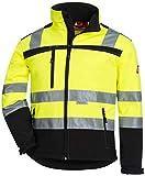 Nitras Giacca Motion Tex Viz ad Alta visibilità | Giacca da Lavoro con Rifinitura Riflettente 3M | Giacca a Vento | M