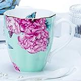 HRDZ Taza de Porcelana de Hueso Taza de café Creativa Taza de Agua Dorada Hecha a Mano