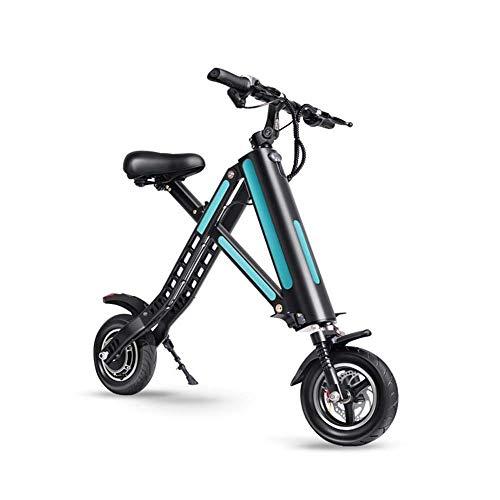 FUJGYLGL Bicicleta Plegable eléctrica Adulto, la Vespa del Retroceso con Asiento extraíble...