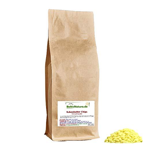 Kakaobutter Chips (100g) Kakao Butter Pastillen Nibs Lebensmittelqualität Theobroma cacao