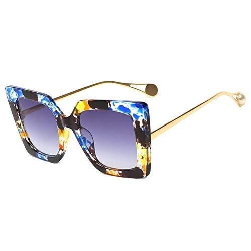 NZHK Gafas Azules Conductor Florales clásicos Femeninos Perla de Lujo de diseño de Ojo de Gato Gafas de Sol de Las señoras Mujeres UV400 Gafas de Sol polarizadas (Color : Green)