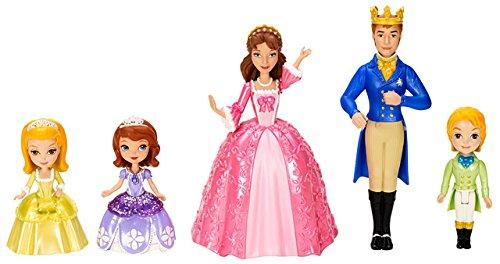 Mattel Disney's Sofia die Erste Y6654 - Sofia und königliche Familie, 5 Puppen Set