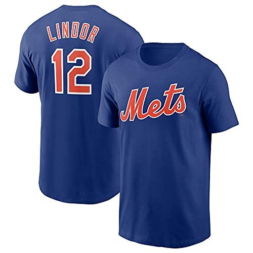 MLB Jungen Youth 8-20 Team Farbe Offizieller Spieler Name & Nummer T-Shirt - Blau - XL