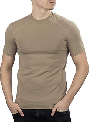 281Z Military Stretch Cotton Underwear T-Shirt - Tactical Hiking Outdoor - Punisher Combat Line (Tan, Medium)