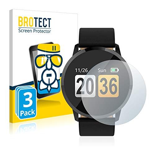 BROTECT Panzerglas Schutzfolie kompatibel mit Gokoo Fitness Tracker Q8 (3 Stück) - AirGlass, extrem Kratzfest, Anti-Fingerprint, Ultra-transparent