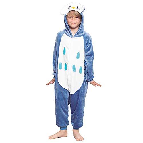Pijamas Enteros de Animales Niñas y Niños Unisex【Tallas Infantiles 3 a 12 años】 Disfraz Búho Mono Enterizo Carnaval Fiestas【Talla 7-9 años】