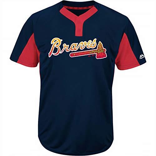 Majestic Atlanta Braves Premier Eagle Cool Base Men's 2-Button Jersey Small
