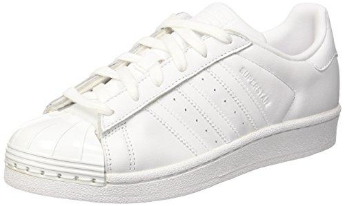 adidas Damen Superstar 80s Metal Toe Sneaker, Weiß (Footwear White/Footwear White/core Black), 41 1/3 EU