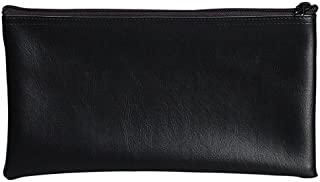 PM Company Securit Bank Deposit/Utility Zipper Coin Bag, 11 X 6 Inches, Black (04621)