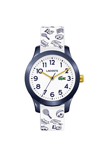 Lacoste Kids' TR90 Quartz Watch with Rubber Strap, White, 14 (Model: 2030011)