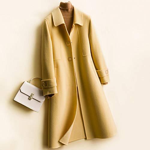 GDCAKMI Halblanger Mantel für Frauen im Herbst und Winter Neue Wilde lässige lose war dünn über dem Knie Trenchcoat